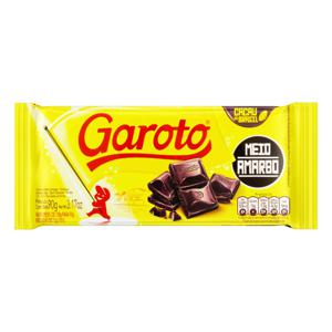Chocolate Meio Amargo Garoto Pacote 90g