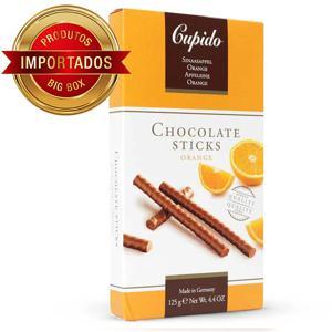 Bastões De Chocolate Belga Cupido Laranja 125G