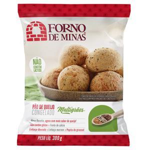 Pão de Queijo Congelado Integral Multigrãos Forno de Minas 300g