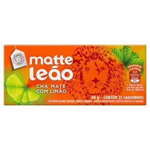 Chá Mate Limão Matte Leão Caixa 40g 25 Unidades