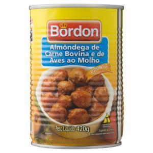 Almôndegas de Carne Bovina e Aves Bordon Lata 420g