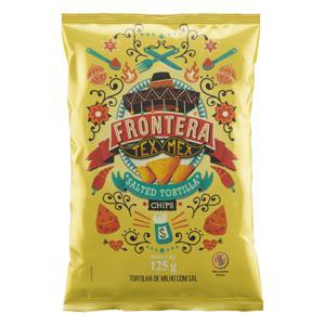 Tortilha Chips de Milho com Sal Frontera Tex Mex Pacote 125g