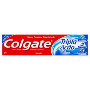 Creme Dental Hortelã Colgate Tripla Ação Caixa 90g