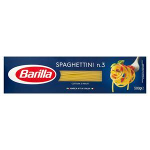 Macarrão de Sêmola Espaguete 3 Barilla Caixa 500g