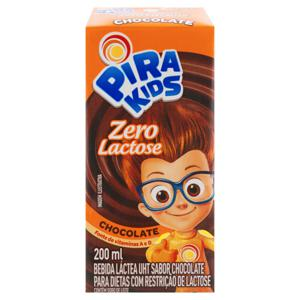 Bebida Láctea UHT Chocolate Zero Lactose Piracanjuba Pirakids Caixa 200ml