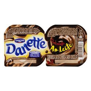 Sobremesa Láctea Chocolate ao Leite Danette Bandeja 180g 2 Unidades