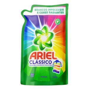 Lava-Roupas Líquido Roupas Brancas e Coloridas Ariel Clássico Sachê 1,5l