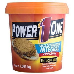 Pasta de amendoim integral crocante Power 1 One - 1,005 Kg