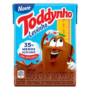 Bebida Láctea UHT Chocolate Toddynho Levinho Caixa 200ml