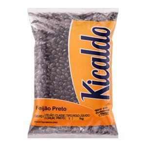 Feijão Preto Tipo 1 Kicaldo Pacote 1Kg