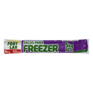 Saco para Freezer 5kg Fortlar 28cm x 40cm 50 Unidades