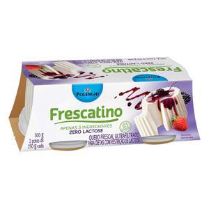 Queijo Frescal Ultrafiltrado Zero Lactose Polenghi Frescatino Pote 500g 2 Unidades