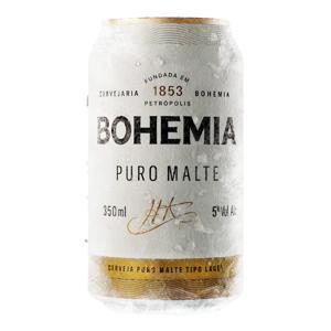 Cerveja Bohemia Puro Malte Lata 350ml
