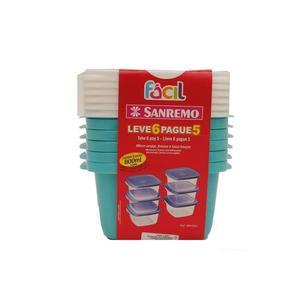 Conjunto de Potes SANREMO Fácil Leve 6 Pague 5 Unidades