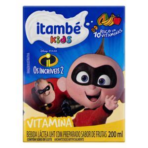 Bebida Láctea UHT Vitamina Os Incríveis 2 Itambé Kids Caixa 200ml