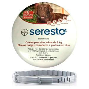 Coleira Seresto Antipulgas e Carrapatos Cães acima de 8Kg Bayer 70cm