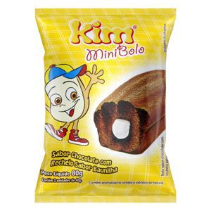 Minibolo Chocolate Recheio Baunilha Kim Pacote 80g 2 Unidades