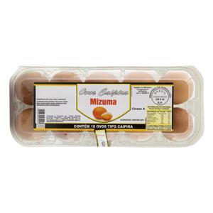 Ovos Caipira Mizuma Bandeja 10 Unidades