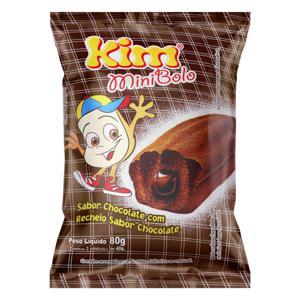 Minibolo Chocolate Recheio Chocolate Kim Pacote 80g 2 Unidades