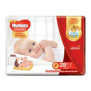 Fralda Descartável Infantil Huggies Supreme Care tam P Pacote c/28 Unidades
