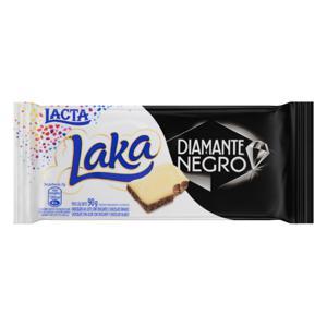 Chocolate ao Leite e Branco Laka e Diamante Negro Lacta Pacote 90g