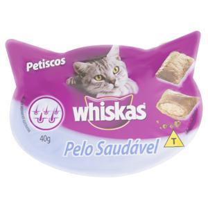 Petisco para Gatos Adultos Whiskas Pelo Saudável Pote 40g