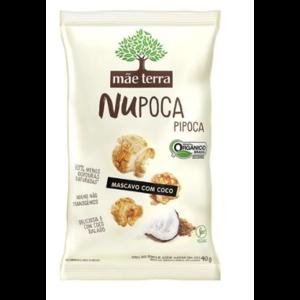 Pipoca Açúcar Mascavo e Coco Orgânica 40g - Mãe Terra