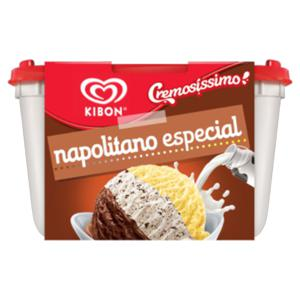 Sorvete Napolitano Especial Kibon Cremosíssimo Pote 2l