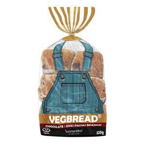 Pão de Chocolate e Uva Passas Brancas Vegano S/ Glúten 320g - Honesto