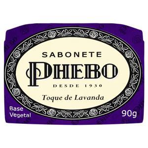 Sabonete em Barra Vegetal Toque de Lavanda Phebo Cartucho 90g