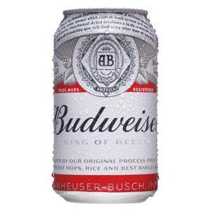 Cerv Budweiser  Lata 350 Ml