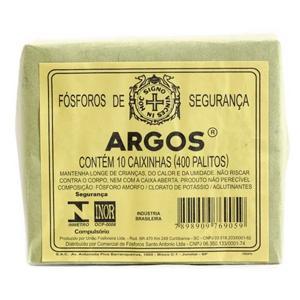 Fósforo Argos - Caixa com 10 Unidades