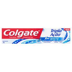 Creme Dental Extra White Colgate Tripla Ação Caixa 70g