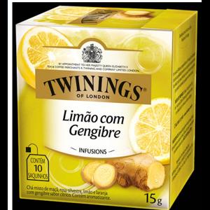 Chá Twinings 15g Limão com Gengibre