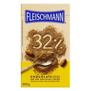 Chocolate em Pó Solúvel 32% Cacau Fleischmann Caixa 200g
