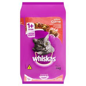 Alimento para Gatos Adultos 1+ Carne Whiskas Pacote 3kg