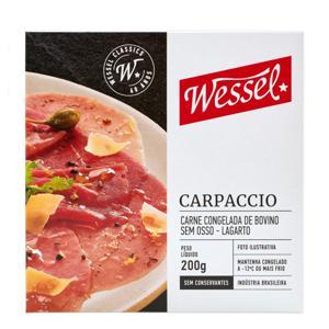 Carpaccio de Lagarto Wessel Caixa 200g