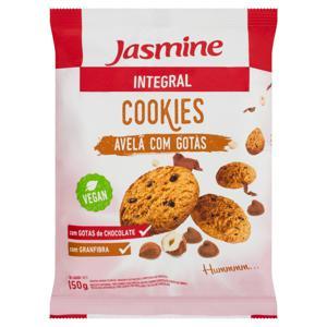 Biscoito Cookie Integral Avelã e Gotas de Chocolate Jasmine Pacote 150g
