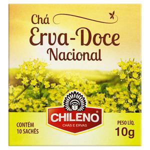 Chá de Erva-Doce-Nacional Chileno Caixa 10g 10 Unidades