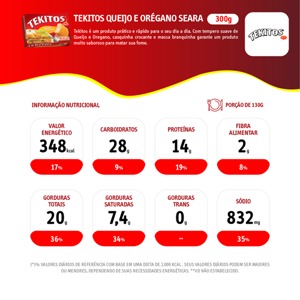 Empanado Tekitos SEARA Queijo e Orégano 300g