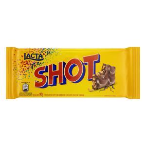 Chocolate ao Leite com Amendoim Lacta Shot Pacote 90g