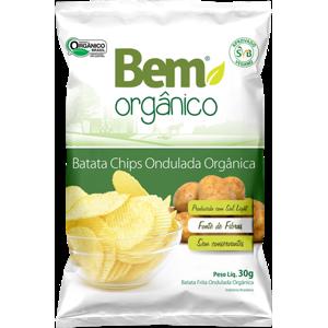 Chips de Batata Ondulada Orgânica 70g - Bem Orgânico