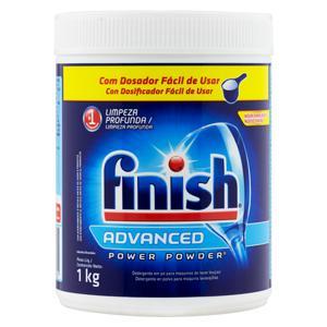 Detergente em Pó para Máquinas de Lavar Louças Finish Power Powder Advanced Pote 1kg