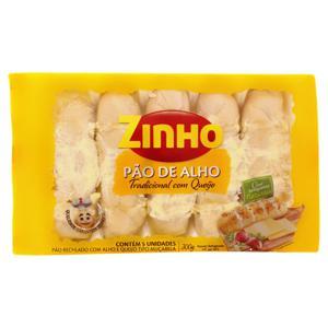 Pão de Alho Recheio Tradicional com Queijo Zinho Pacote 300g