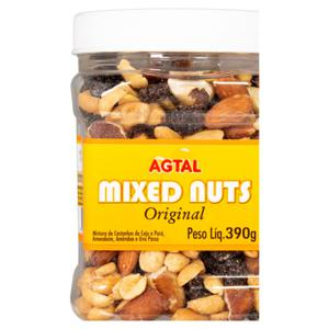 Mix de Castanha Original Agtal Mixed Nuts Pote 390g