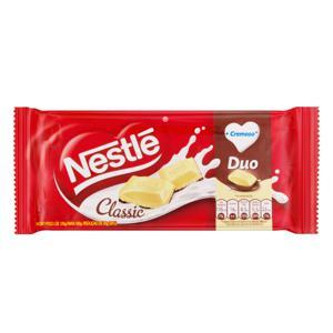 Chocolate ao Leite e Branco Nestlé Classic Duo Pacote 100g
