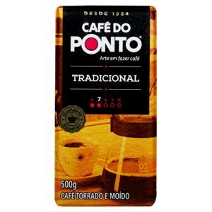 Café Torrado e Moído a Vácuo Tradicional Café do Ponto Pacote 500g
