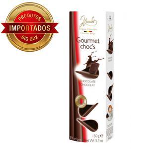Folhas De Chocolate Belga Amargo  150G
