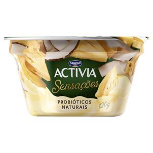 Iogurte Abacaxi e Coco Activia Sensações Pote 120g