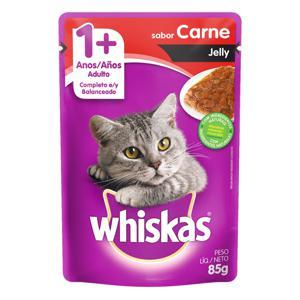 Alimento para Gatos Jelly Adultos 1+ Carne Whiskas Sachê 85g